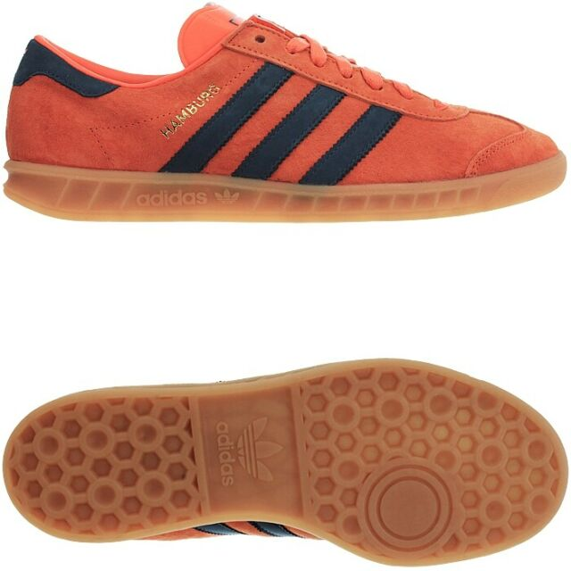 promo code 9f7b2 1d636 adidas Hamburg Super Orange Gum Trainers Shoes UK 4 for sale online ...