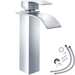 Miscelatore monocomando a cascata alto cromata rubinetto lavabo ...
