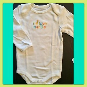 NWT GYMBOREE BRAND NEW Unisex I Am Sooo Loved White L//S Bodysuit Top