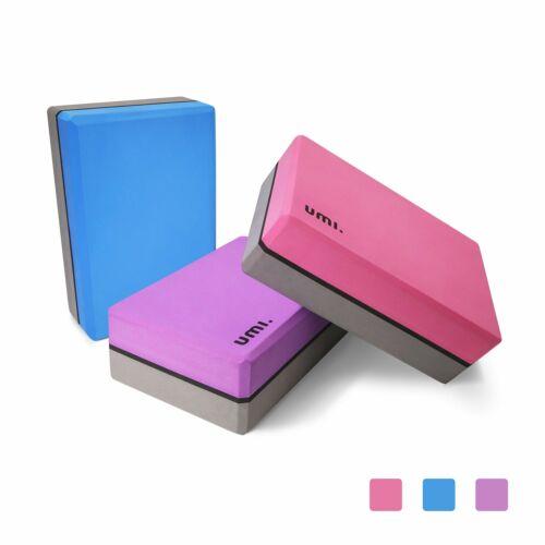 UMI Essentials Yoga Blocks Lightweight High Density Brick Yoga EVA handwriting...