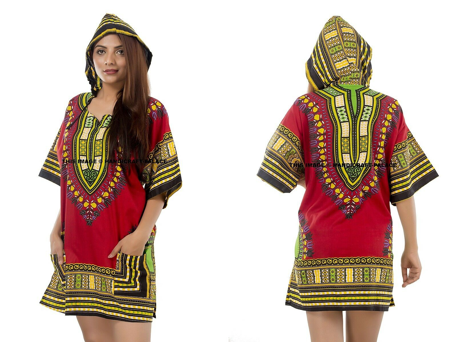 Dashiki African Hoodie Top Mexican Gringo Poncho Tribal Unisex Festival T-Shirts