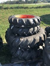 New Listingcomplete Set Of R1 Front Amp Rear Tires For Kubota M7060 M4 071 Tractors