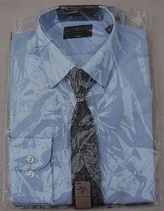 M-amp-S-Calce-Ajustado-Camisa-Azul-Edicion-Limitada-y-corbata-conjunto-de-corte-14-034-36cm-Coller