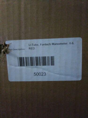 Radon System Vacuum Monitor 50023 2-NEW Fantech U-Tube Manometer Gauge