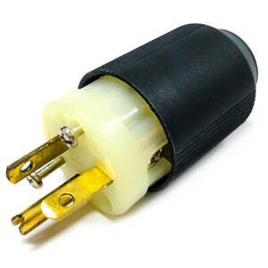 5366N Cooper Industries Autogrip Plug, AH5366N, 20A, 125V, 2-Pole, 3-Wire, 5-20P