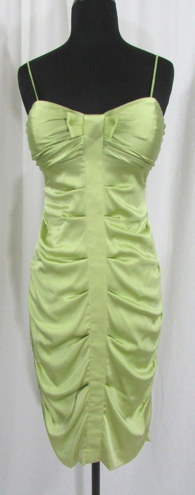 Nicole Miller Collection Dress Lime Grün Silk Blend Cocktail Short Dress Größe 2