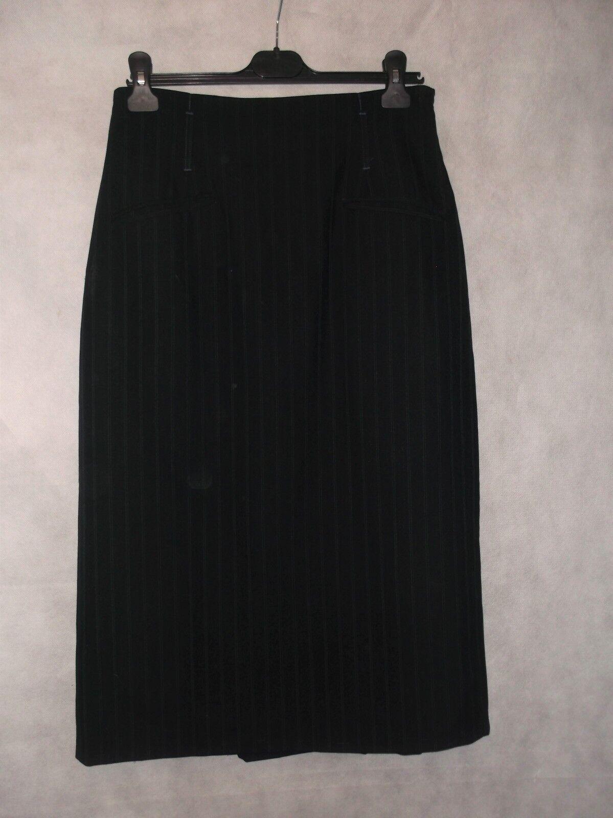 MARGARET HOWELL finest wool pinstripe skirt size 14 12