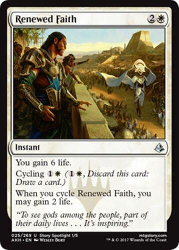 4x Renewed Faith x4 NM//M MTG Magic - Amonkhet U