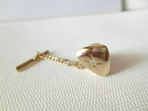 Tumbled Grey and Clear Stone Tie Tack