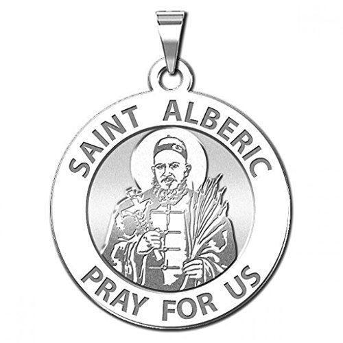 3//4 pouces Taille de nickel-ST Saint Alberic Crescitelli Round religieux médaille