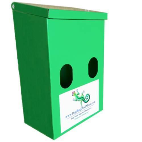 Double Dog Waste Bag Dispenser + 400 Biodegradable Bags (1mil) + 1 rot Sign  106