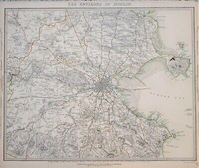 Ireland in 1837 SDUK map Dublin Environs