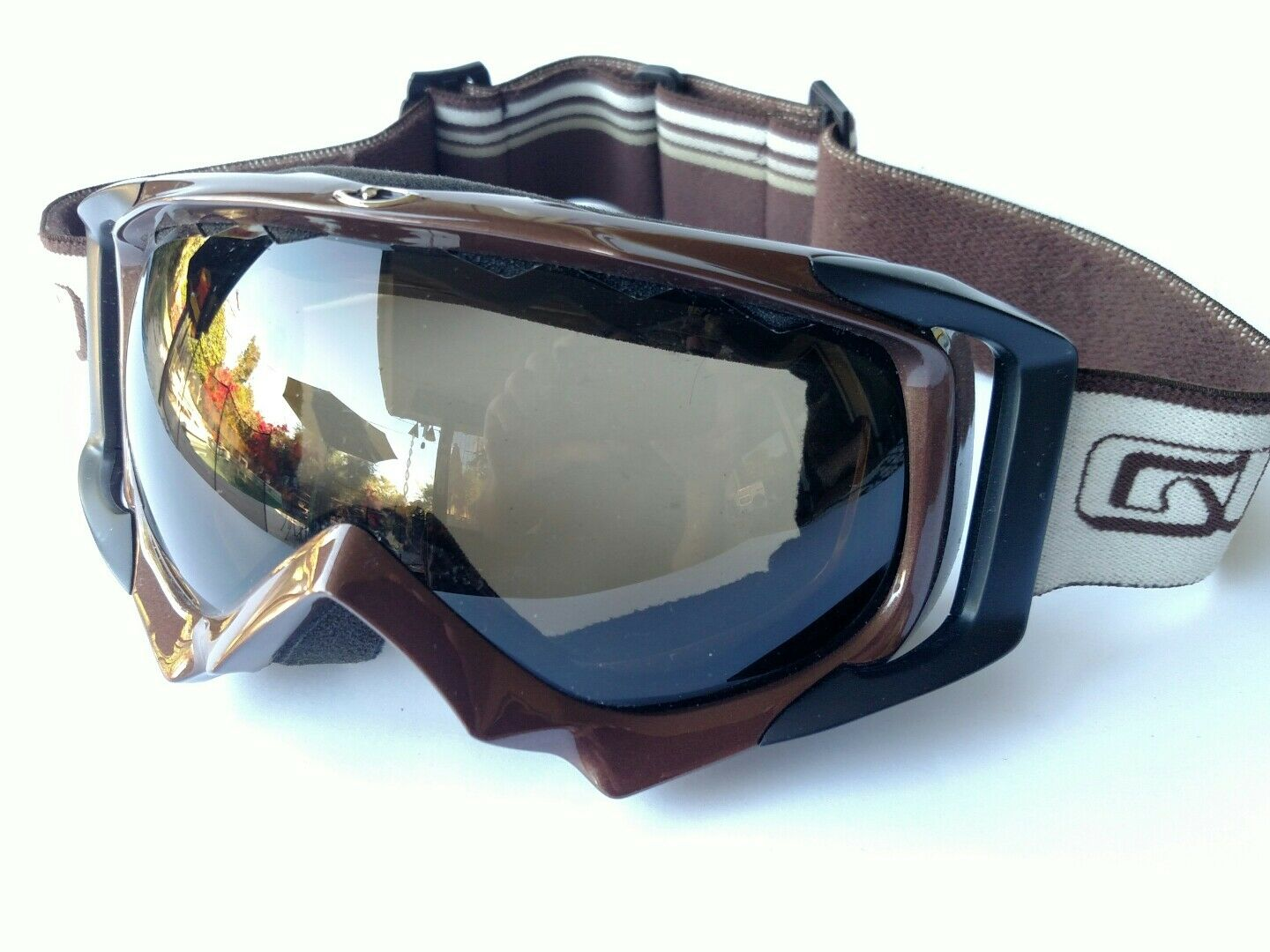 Giro double lens Anti Fog Brown snow goggles   a lot of surprises