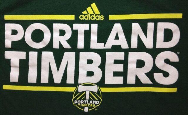 Portland Timbers T Shirt Small Mens Adidas Go To MLS 100% Cotton SS Crewneck Grn