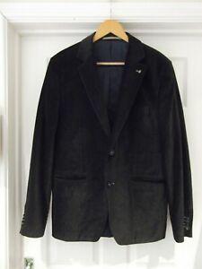 detailed images presenting promo code Details about SELECTION BY s.OLIVER Grey/Black Velvet Blazer Sports Jacket  Men's Size 52 XL