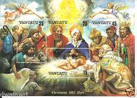 "Vanuatu 1982 Christmas Noel 120v Souvenir Sheet - Sc #345a  ""MNH"""