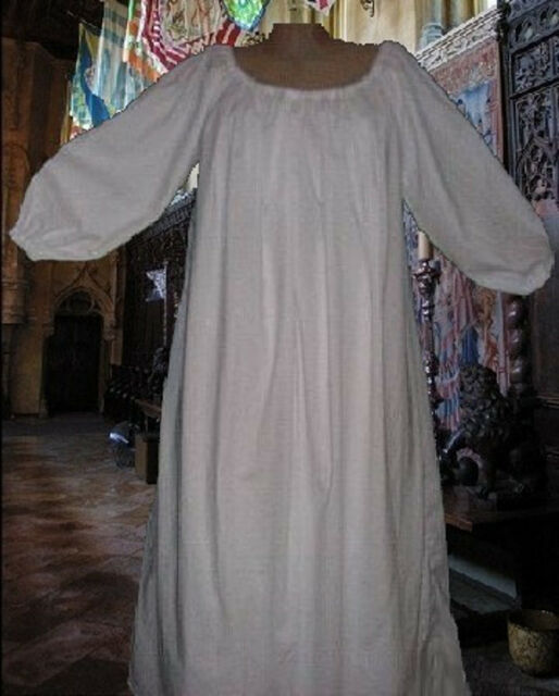 2 forSaraB ONLY Costume Medieval Chemises White Muslin 100% Cotton