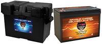 Vmax Mr127 + Battery Box For Hurricane Boat/trolling Mtr Marine Dp Cyc Battery