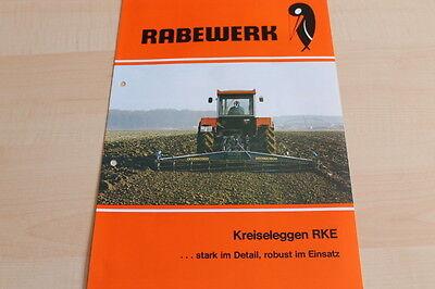 Capable 144319 Car & Truck Manuals Rabewerk Kreiselegge Rke Prospekt 11/1981 Attractive Fashion