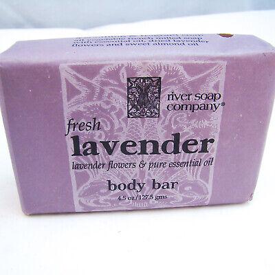 Health & Beauty Supply River Soap Company Fresco Lavanda Barra De Cuerpo 133ml 127.5g Nuevo Envuelto