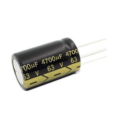 2PCS 63V 4700uF 63Volt 4700MFD Electrolytic Capacitor 22×40 Radial