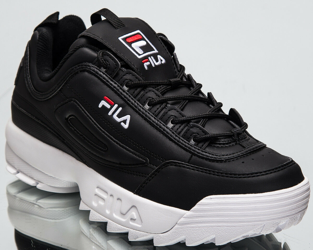 Fila disrupteur Bas Messieurs Lifestyle Chaussures Noir Blanc 2018 paniers