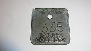 Collectable-Metal-Miners-Lamp-Check-Pit-Tally-Token-Barrow-Colliery-335