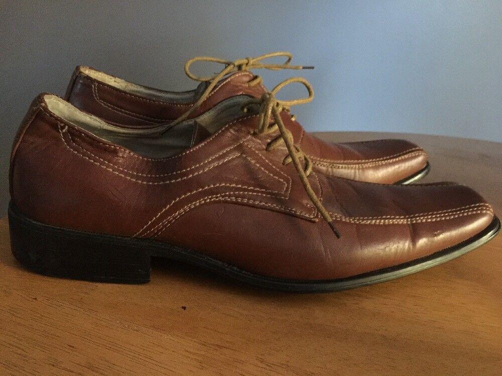 ANTONIO CERRELLI Leather Square Toe High Style Casual Dress Mens shoes Sz 10