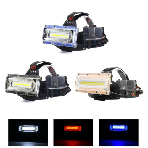 UK Stock 20W LED COB USB Rechargeable 18650 Headlamp Headlight Fishing Torch