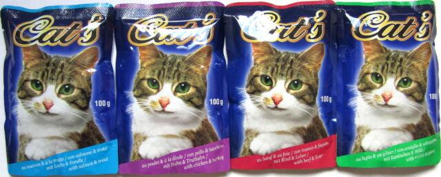 264 x 100g Katzenfutter Mix diverse Sorten Pouchbeutel *versandfrei*