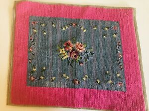 vintage-unframed-floral-needlepoint-pink-blue-finished-ready-to-frame