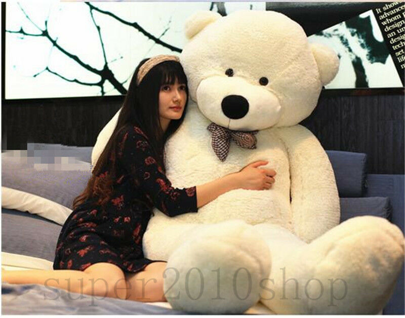 88in. Giant Big bianca Teddy Bear Pillow Stuffed Animals Plush Soft Toy Doll Gift