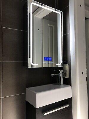 LED Spiegelschrank 70x50 Beleuchtung Bluetooth Radio ...