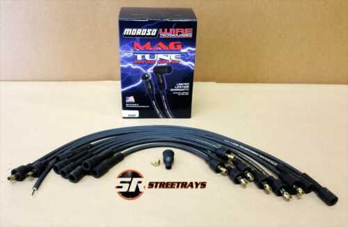 Details about  /Moroso Mag-Tune Black 7mm Spark Plug Wires Chevy Inline-6 230 250 292 6cyl 9050M