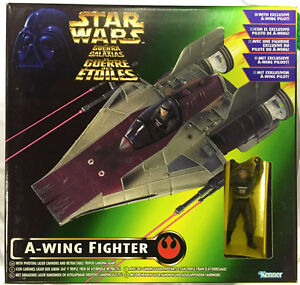 Kenner-POTF-Star-Wars-A-Wing-Fighter-with-A-Wing-Pilot-Figure-New