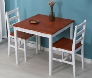 Details About 2 Seater Dining Table And Chairs Kitchen Breakfast Room Small Furniture Set Wood