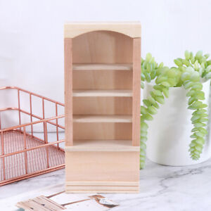 1-12-Dollhouse-Miniature-Wooden-Furniture-Room-Book-Cabinet-bookshelf-Cabinet-YK