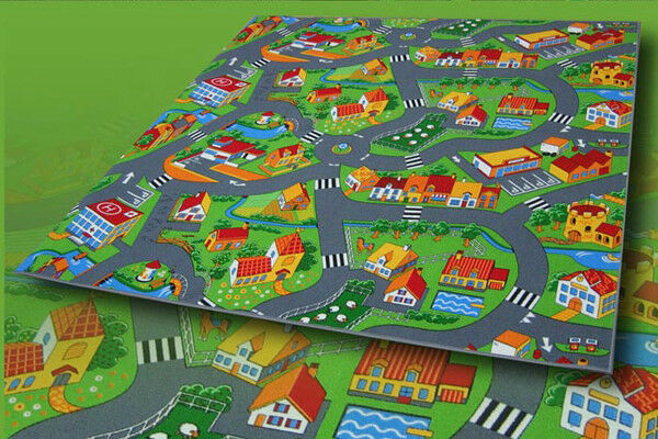 Routes Tapis Jeu Tapis Ferme 390x400 cm