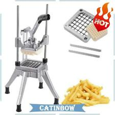 Stainless Steel French Fry Cutter Potato Vegetable Slicer Chopper 12 Blades