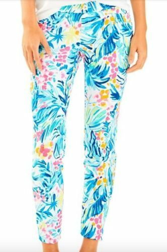 NWT Lilly Pulitzer Kelly Skinny Ankle Pant Serene bluee Tippy Size 6 & 8 40% OFF