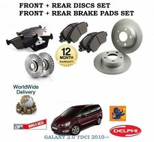 FOR FORD GALAXY 2.0 TDCi  2010--  FRONT + REAR BRAKE DISCS SET AND DISC PADS KIT