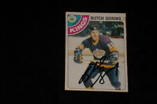 BUTCH GORING 1978-79 O-PEE-CHEE SIGNED AUTOGRAPHED CARD #151 LA KINGS