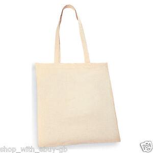 1 REUSABLE NATURAL COTTON SHOPPING SHOULDER TOTE BAGS - handbag