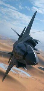 PLAQUE MÉTAL    AVION DE CHASSE F15   30 X 20 CM