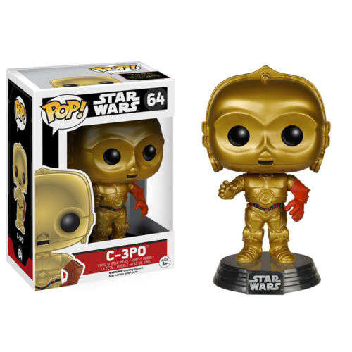 Pop Star Wars The Force Awakens C-3PO Movie Character FigureFunko FU6219