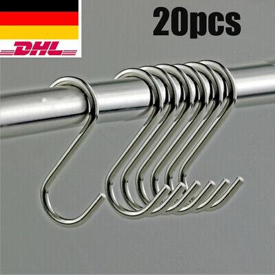 HAKEN Küchenhaken Fleischerhaken Metallhaken Edelstahl-Design Haken S-Form S