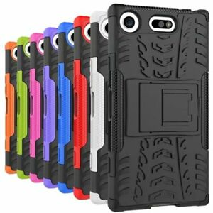 Shockproof-Armor-Rugged-Stand-Hard-Case-Back-Cover-For-Sony-Xperia-XZ1-Compact