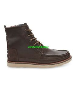 9431cf77690 NEW Mens Toms Brown Full Grain Leather Searcher Boots US SIZE 9.5 ...
