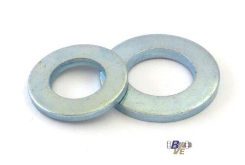 verzinkt bis M30 Unterlegscheiben Beilagscheiben U-Scheiben DIN 125 Stahl galv
