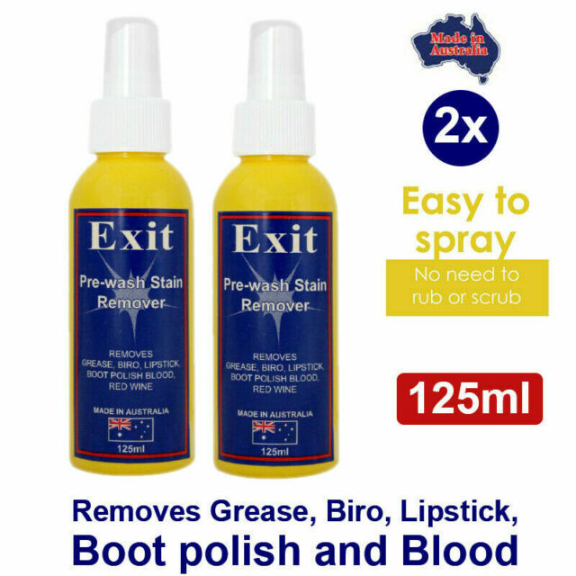 2x Pre Wash Stain Remover Exit Soap Spray 125ml Multi-Purpose NEW